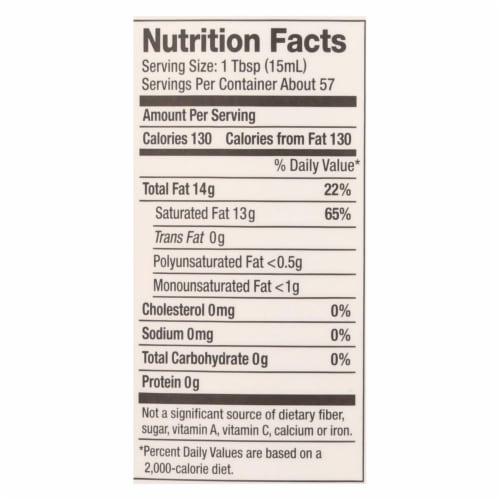 Nutiva Virgin Coconut Oil Organic - 29 oz - Case of 6 Perspective: back