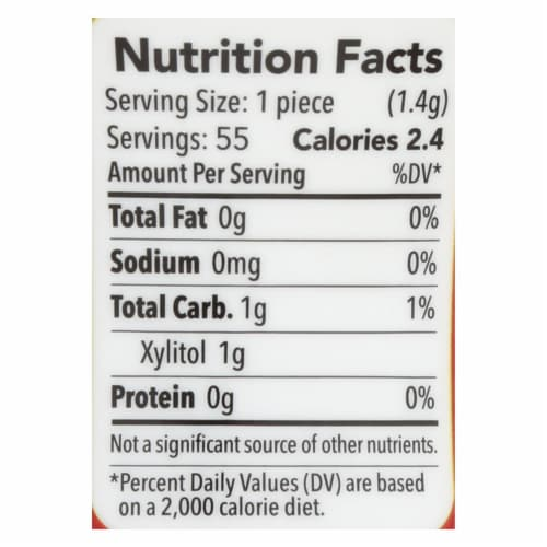 Spry Xylitol Gum - Stronger Longer Cinnamon - Case of 6 - 55 count Perspective: back