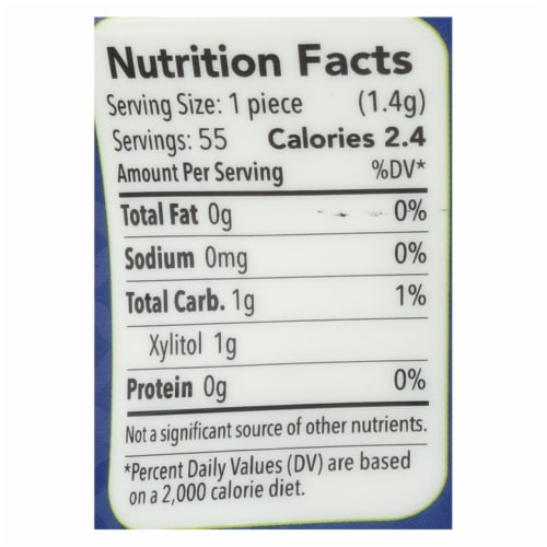 Spry Xylitol Gum - Stronger Longer Peppermint - Case of 6 - 55 count Perspective: back