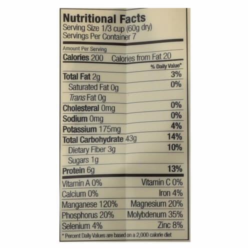Lotus Foods Heirloom Forbidden Rice - Case of 6 - 15 oz. Perspective: back