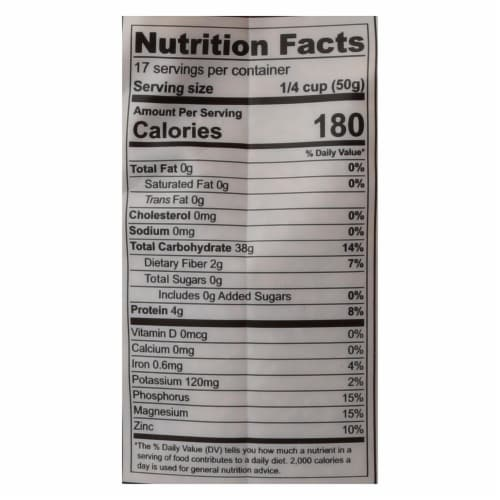 Lotus Foods Organic - Rice - Brown - Jasmine - Case of 6 - 30 oz Perspective: back
