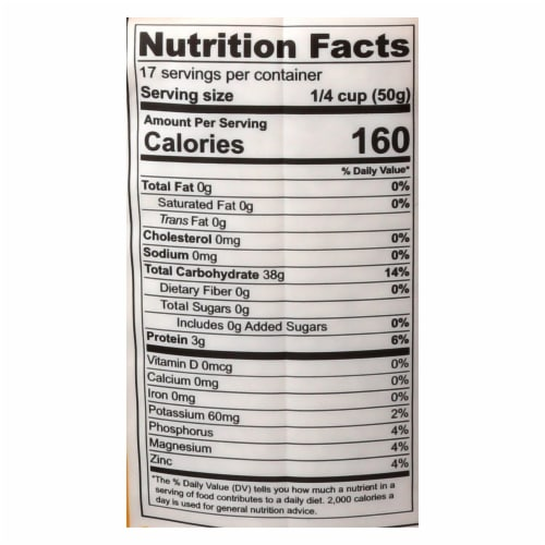 Lotus Foods Organic - Rice - White - Jasmine - Case of 6 - 30 oz Perspective: back