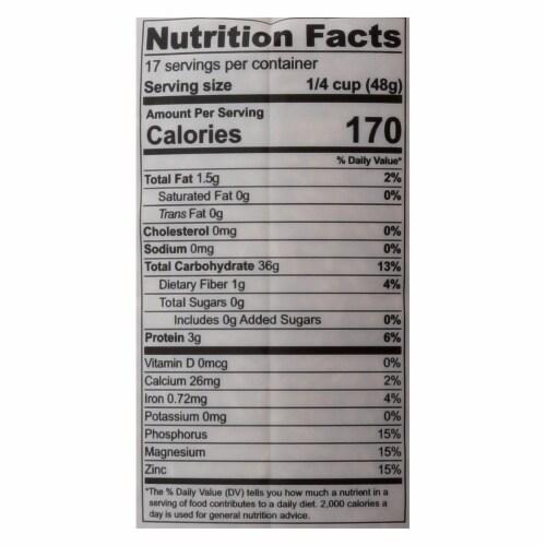 Lotus Foods Organic Rice - Brown Basmati - Case of 6 - 30 oz Perspective: back