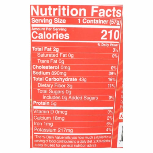Lotus Foods Red Miso Rice Ramen Noodle Soup - Case of 6 - 2 OZ Perspective: back