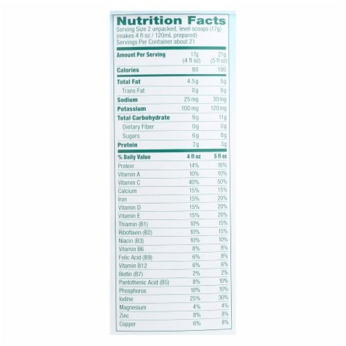 Baby's Only Organic Dairy Iron Fortified Toddler Formula - Case of 6 - 12.7 oz. Perspective: back