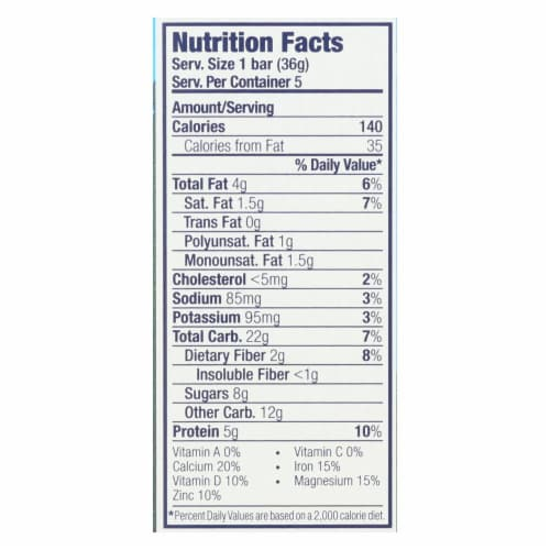 Clif Kid Zbar Organic Kid Zbar Protein - Peanut Butter Chocolate - Case of 6 - 1.27 oz. Perspective: back
