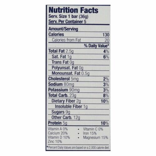 Clif Kid Zbar Organic Kid Zbar Protein - Chocolate Chip - Case of 6 - 1.27 oz. Perspective: back