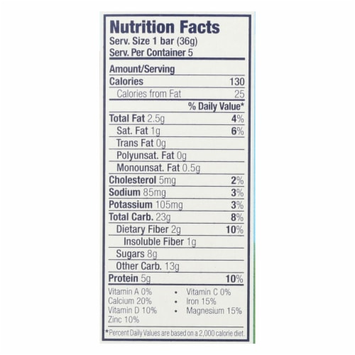 Clif Kid Zbar Organic Kid Zbar Protein - Chocolate Mint - Case of 6 - 1.27 oz. Perspective: back