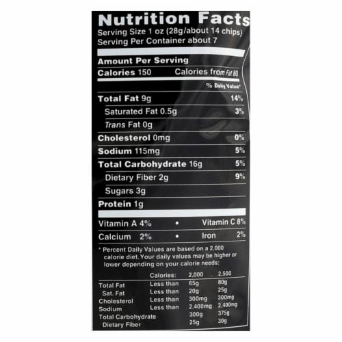 Terra Chips Exotic Vegetable Chips - Original - Case of 12 - 6.8 oz. Perspective: back