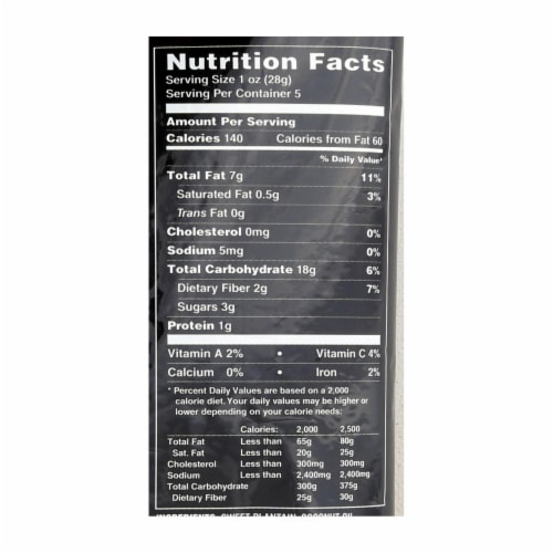 Terra Chips Veggie Chips - Sweet Plantains - Case of 12 - 5 oz Perspective: back