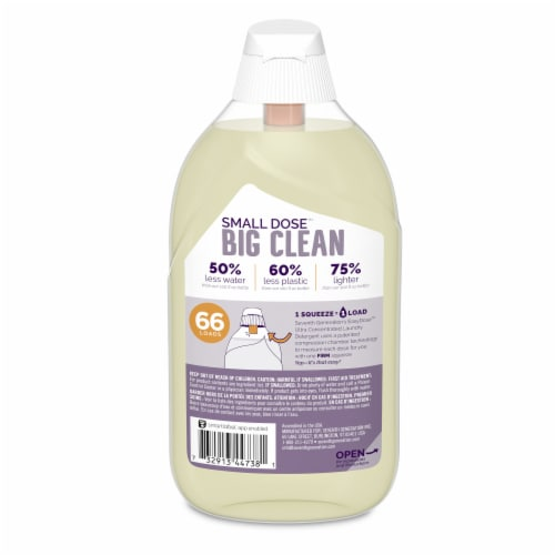 Seventh Generation EasyDose Fresh Lavender Scent Ultra Concentrated Liquid Laundry Detergent Perspective: back