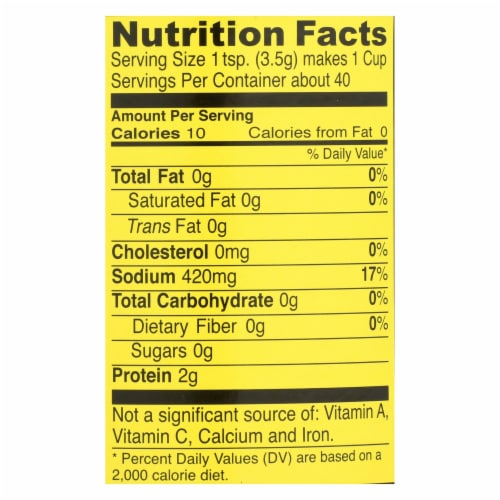 Seitenbacher Vegetarian Vegetable Broth and Seasoning - Case of 6 - 5 oz. Perspective: back