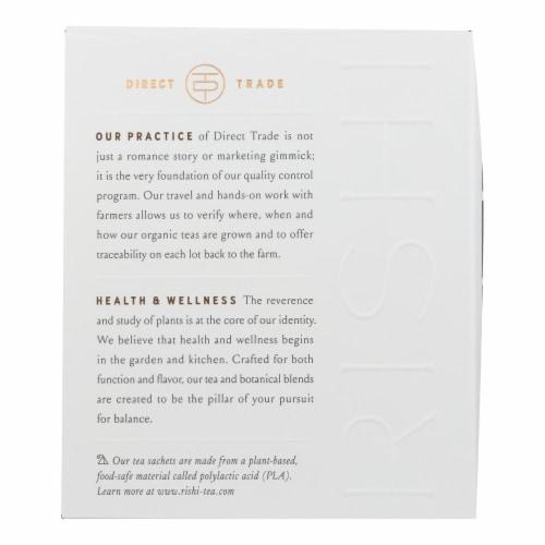 Rishi - Organic Tea - Dandelion Detox - Case of 6 - 15 Bags Perspective: back