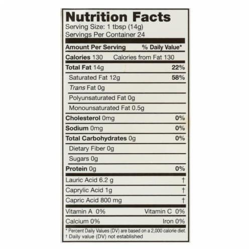 Carrington Farms Coconut Oil - Case of 6 - 12 fl oz. Perspective: back