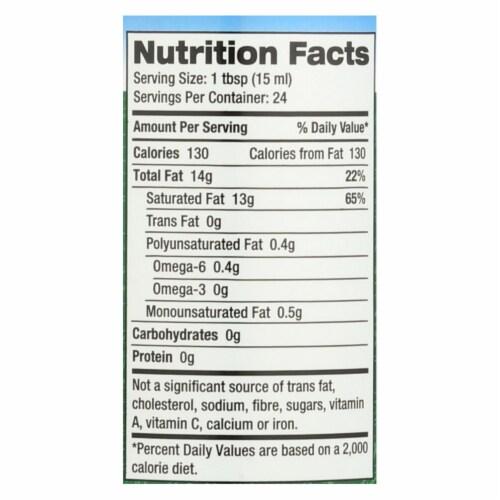 Carrington Farms™ Premium Mct Liquid Coconut Oil - Case of 6 - 12 FZ Perspective: back