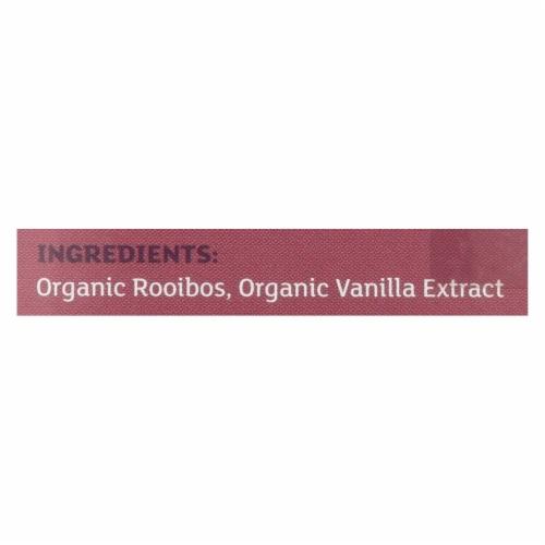 Equal Exchange Organic Herbal Tea Vanilla Rooibos - Vanilla - Case of 6 - 20 Bags Perspective: back