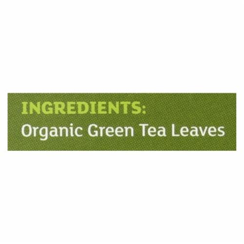 Equal Exchange Organic Green Tea - Green Tea - Case of 6 - 20 Bags Perspective: back