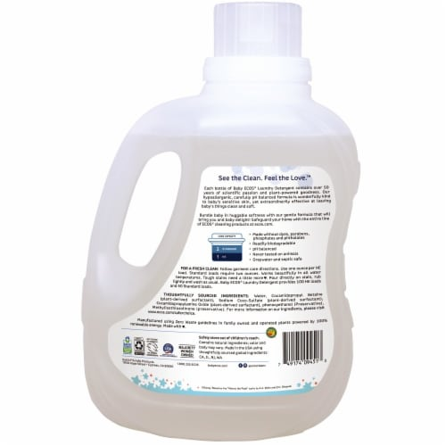 ECOS® Baby Free & Clear Disney Laundry Detergent Perspective: back