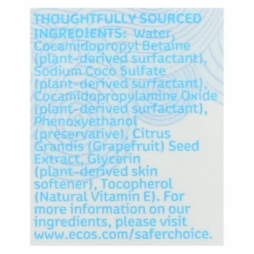 ECOS Hand Soap - Free And Clear - Case of 6 - 8 fl oz. Perspective: back