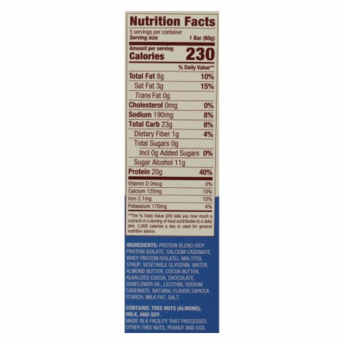 Think! Thin Brownie Crunch High Protein Bars - Case of 6 - 5/2.1 OZ Perspective: back