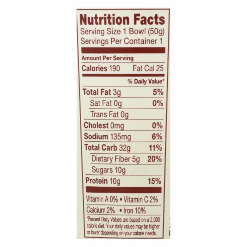 Thinkthin Protein And Fiber Oatmeal - Case of 6 - 1.76 OZ Perspective: back
