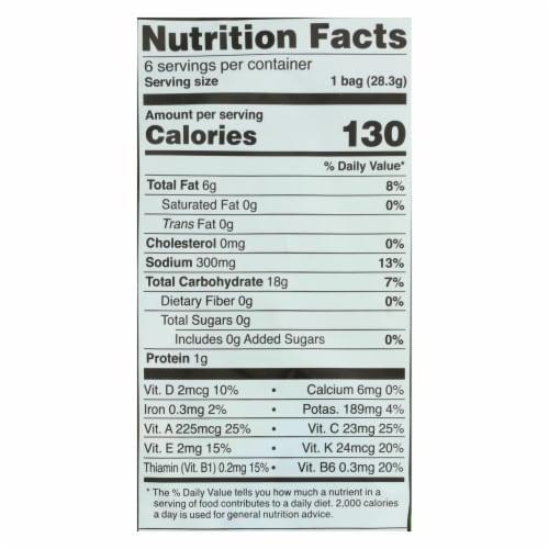 Good Health Veggie Straws - Sea Salt - Case of 8 - 1 oz. Perspective: back