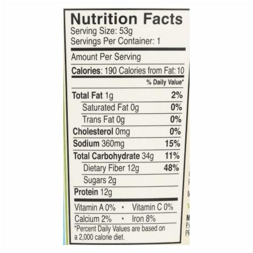 Dr. McDougall's Vegan Split Pea Lower Sodium Soup Cup - Case of 6 - 1.9 oz. Perspective: back