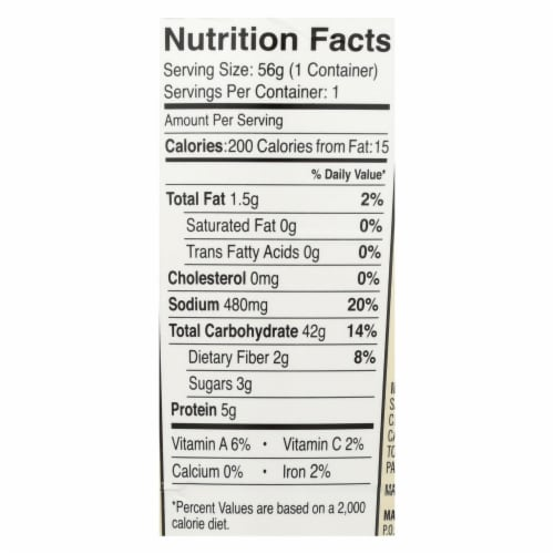 Dr. McDougall's Pad Thai Asian Noodles - Case of 6 - 2 oz. Perspective: back