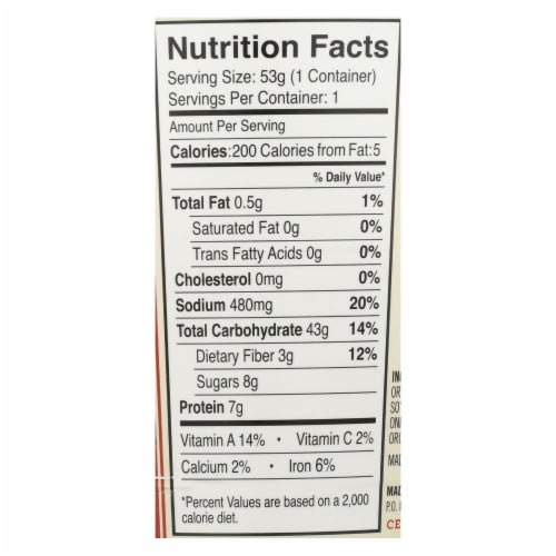 Dr. Mcdougall'S Asian Noodle Soup, Teriyaki  - Case of 6 - 1.9 OZ Perspective: back