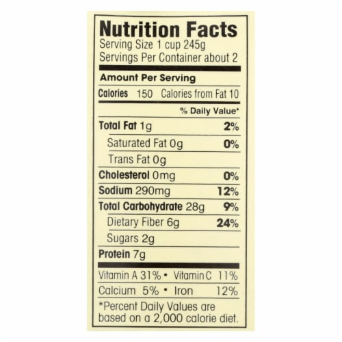 Dr. McDougall's Organic Black Bean Lower Sodium Soup - Case of 6 - 18 oz. Perspective: back
