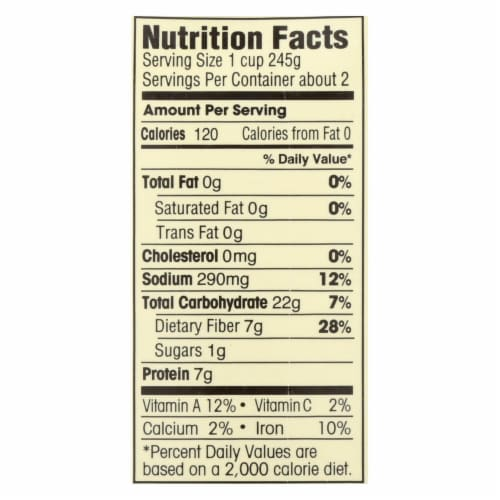 Dr. McDougall's Organic Split Pea Lower Sodium Soup - Case of 6 - 17.6 oz. Perspective: back