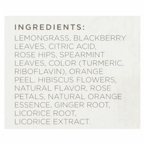 Tazo Tea Herbal Tea - Wild Sweet Orange - Case of 6 - 20 BAG Perspective: back