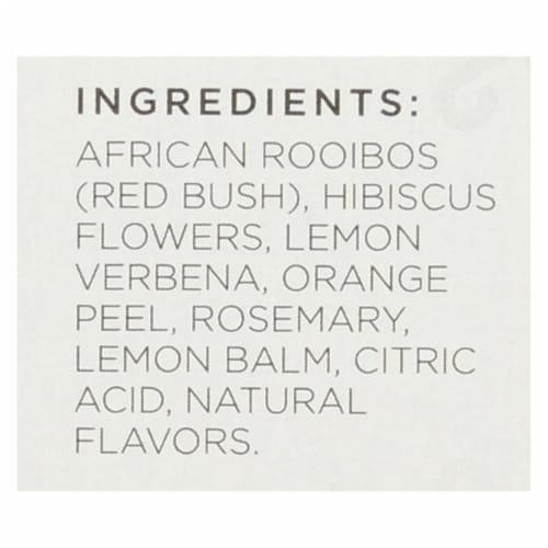 Tazo Tea Tea - Scarlet Citrus Rooibos - Case of 6 - 20 BAG Perspective: back