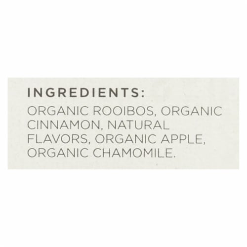 Tazo Tea Organic Tea - Hot Apple Red - Case of 6 - 20 BAG Perspective: back