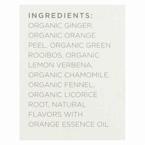 Tazo Tea Organic Tea - Hot & Spicy Ginger - Case of 6 - 20 BAG Perspective: back