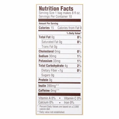 Teeccino Coffee Tee Bags - Organic - Dandelion Dark Roast Herbal - 10 Bags Perspective: back