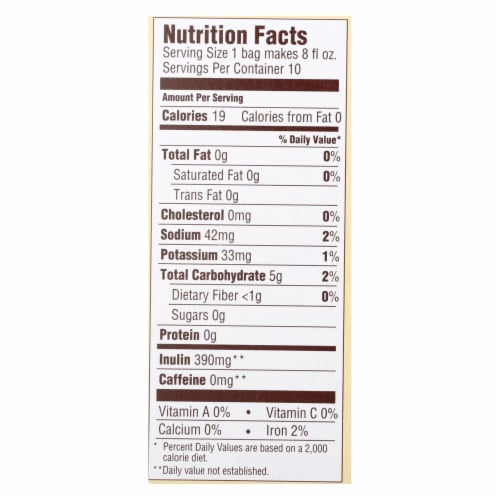 Teeccino Coffee Tee Bags - Organic - Dandelion Caramel Nut Herbal - 10 Bags Perspective: back