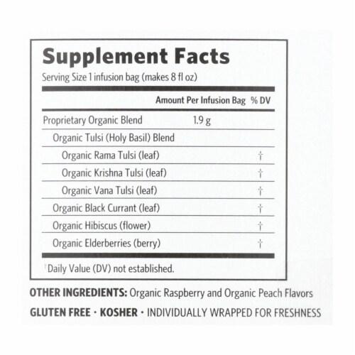 Organic India Tulsi Tea Raspberry Peach - 18 Tea Bags - Case of 6 Perspective: back