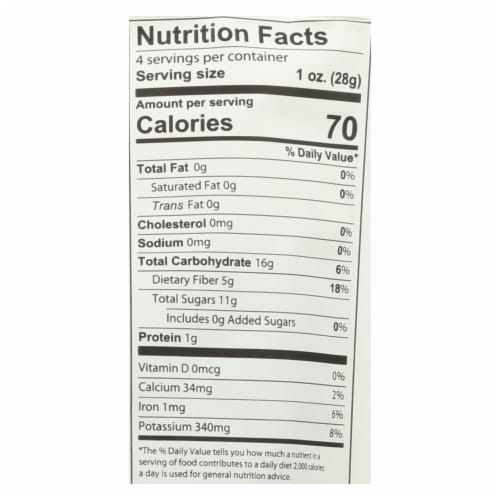 Fruit Bliss - Organic Tart Dried Cherries - Case of 6 - 4 oz. Perspective: back