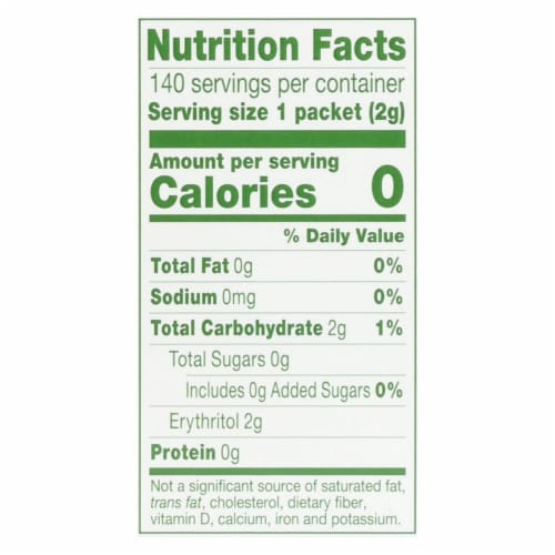 Truvia - Sweetener Natural - Case of 6 - 140 CT Perspective: back