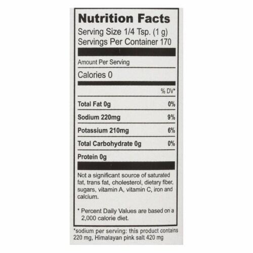 Natierra Himalania Fine Pink Salt Mix Reduced Sodium  - Case of 6 - 6 OZ Perspective: back