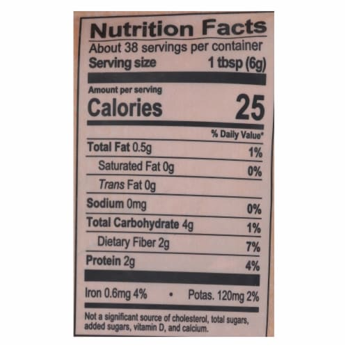 Natierra Organic Cacao Powder - Case of 6 - 8 oz Perspective: back