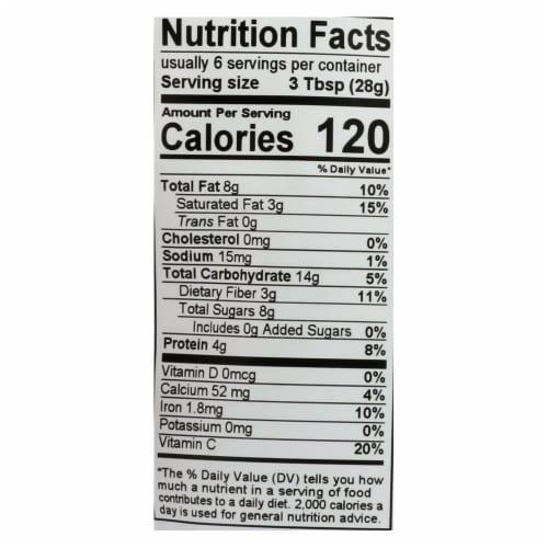 Essential Living Foods Cashew + Goji + Fig + Hazelnut Organic Antioxidant Trail Mix-6Case-6oz Perspective: back