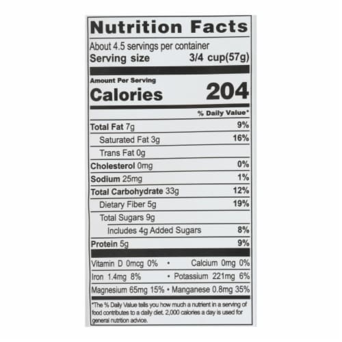 Living Intentions Activated Superfood Cereal  - Case of 6 - 9 OZ Perspective: back