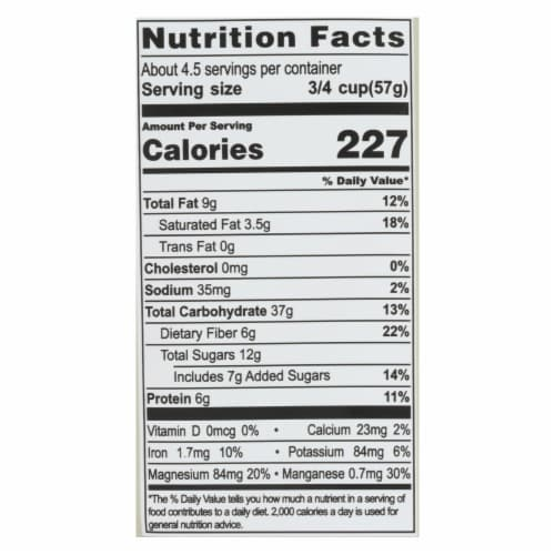 Living Intentions Cereal - Organic - Superfood - Cacao Crunch - 9 oz - case of 6 Perspective: back