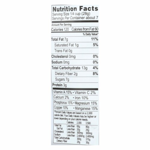 Living Intentions Organic Sprouted Trail Mix - Wild Berry - Case of 6 - 7 oz. Perspective: back