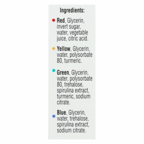 J.R. Watkins Food Coloring - Assorted - Case of 6 - 4 Count Perspective: back