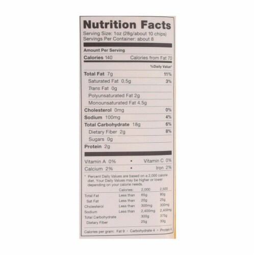 Late July Snacks Organic Cantina Dippers - White Corn - Case of 9 - 8 oz Perspective: back