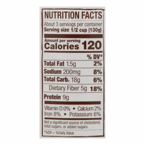 Jovial - Organic Chickpeas - Case of 6 - 13 oz. Perspective: back