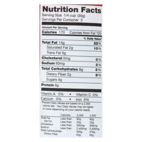 Creative Snacks Co. Brain Food Mixed Nuts  - Case of 6 - 3.5 OZ Perspective: back